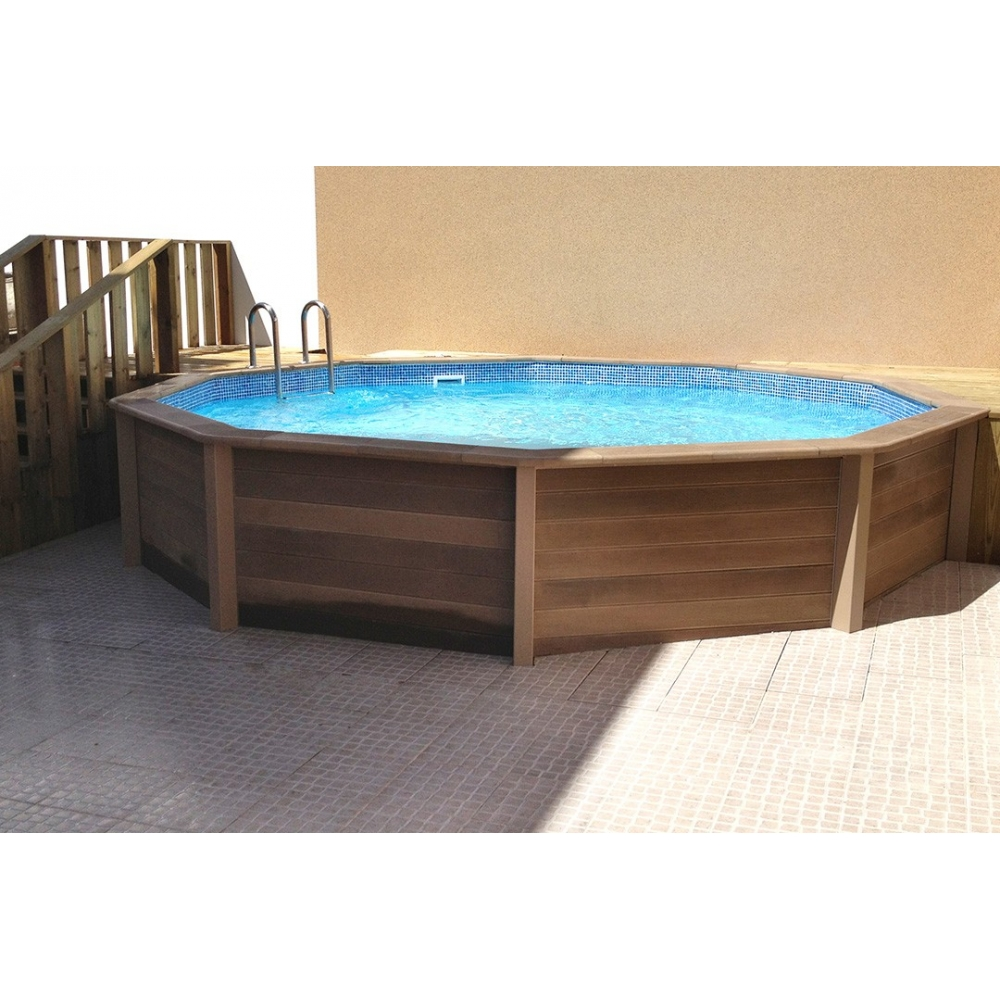 Kit piscine b ton aspect bois naturalis - Piscine intex aspect bois ...