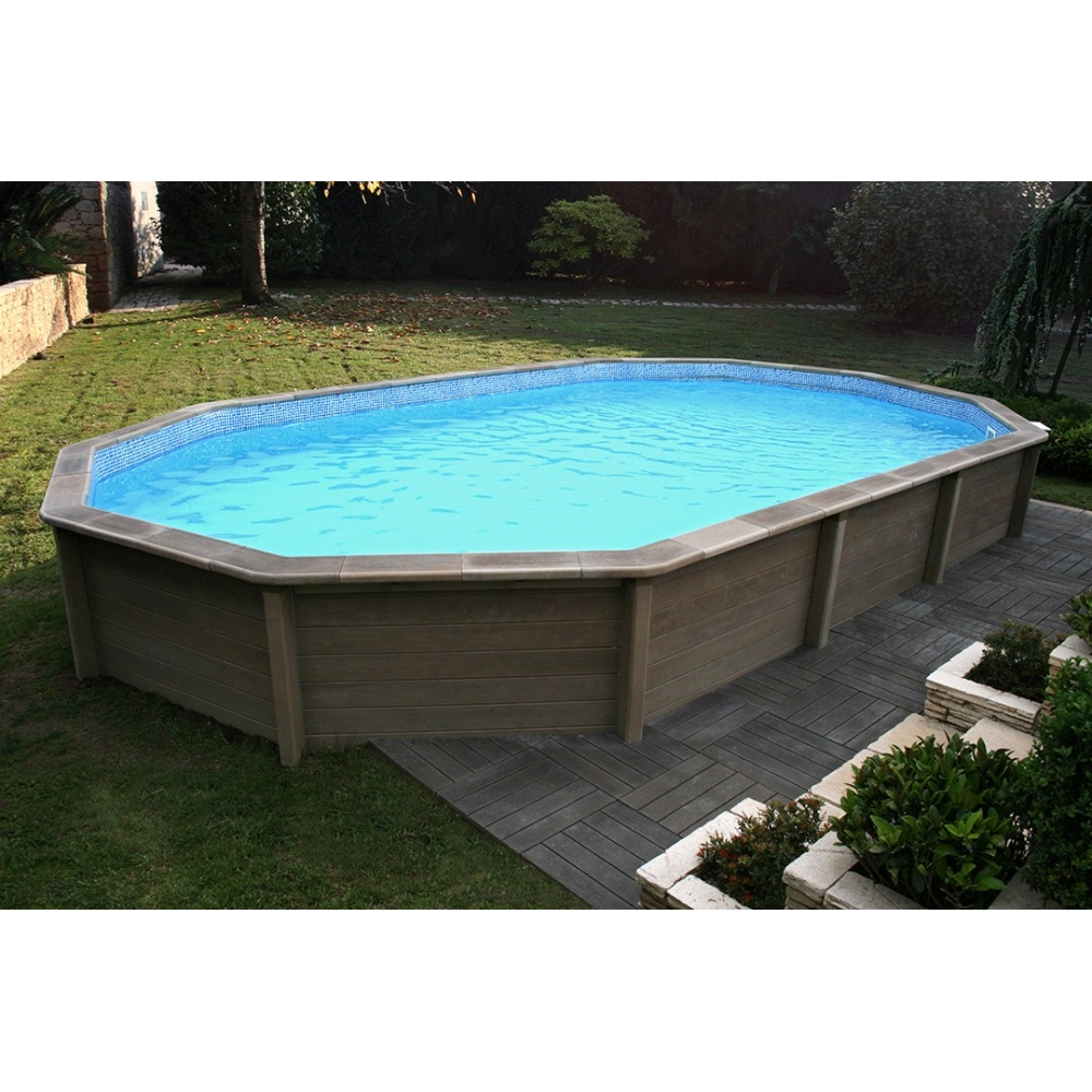 Kit piscine b ton aspect bois naturalis for Piscine hors sol beton castorama