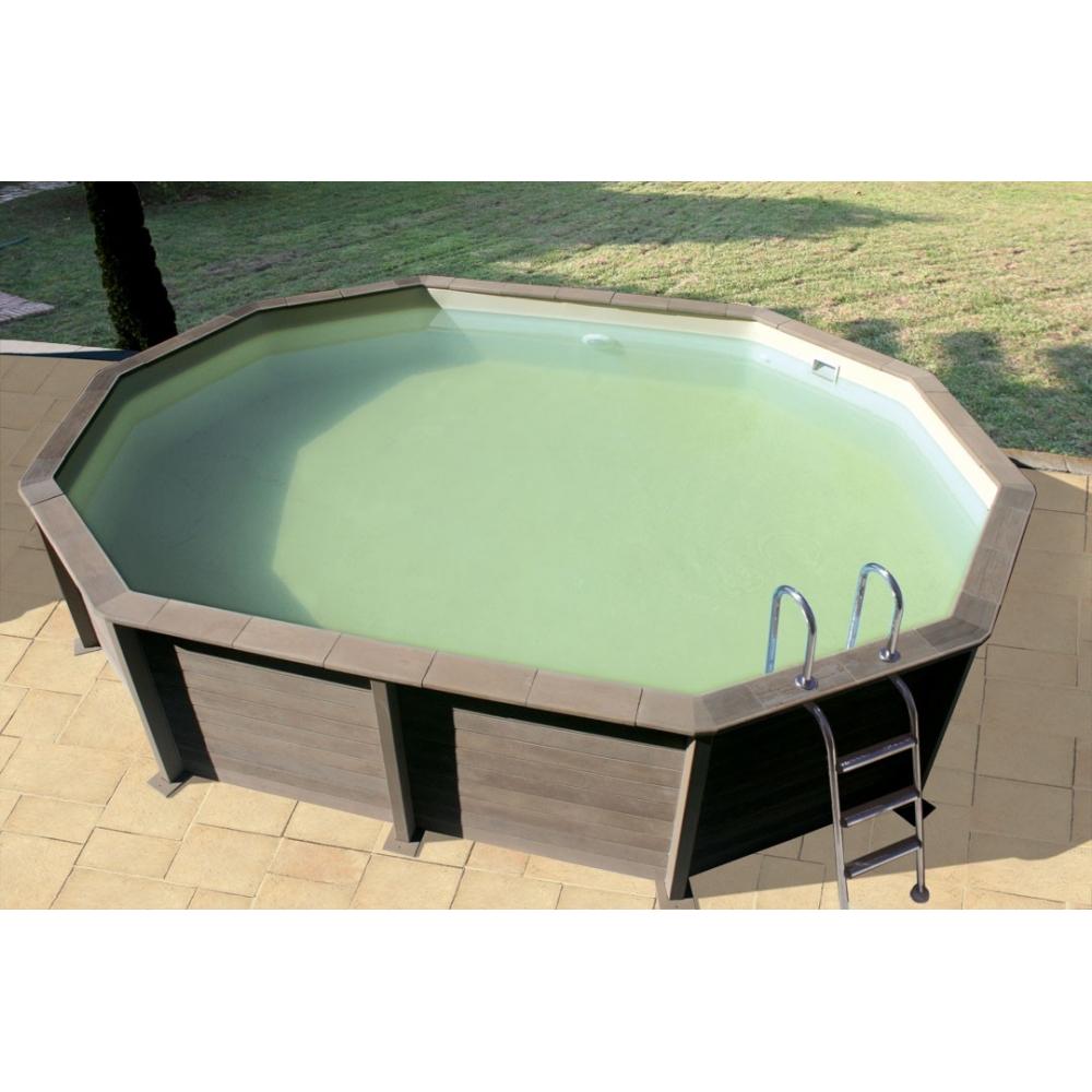 Kit piscine b ton aspect bois naturalis for Piscine hors sol imitation bois