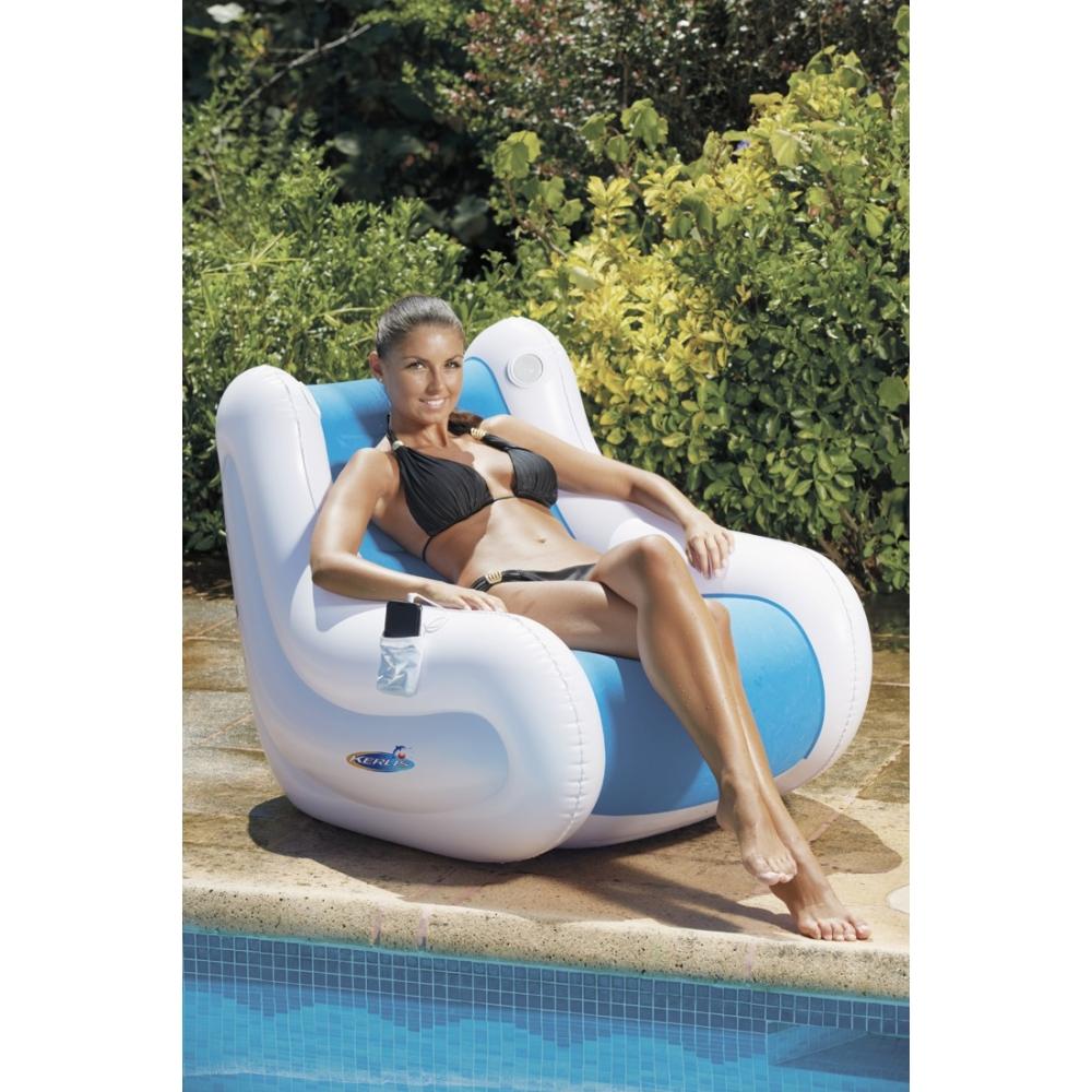 Rocking chair gonflable avec musique mp3 int gr for Piscine spa integre