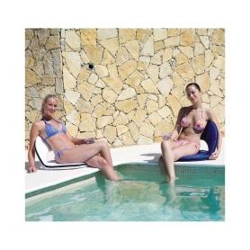 Fauteuil gonflable transparent pour piscine for Chaise pour piscine