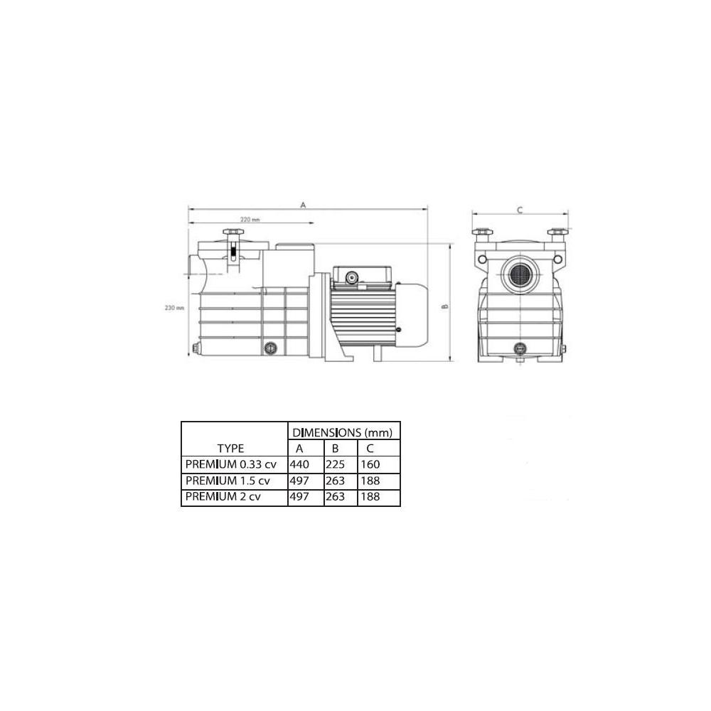 Pompe Premium Mareva Filtration Piscine Pas Ch Re