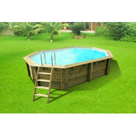 Piscine hors sol bois odyssea rectangle proswell for Piscine leclerc