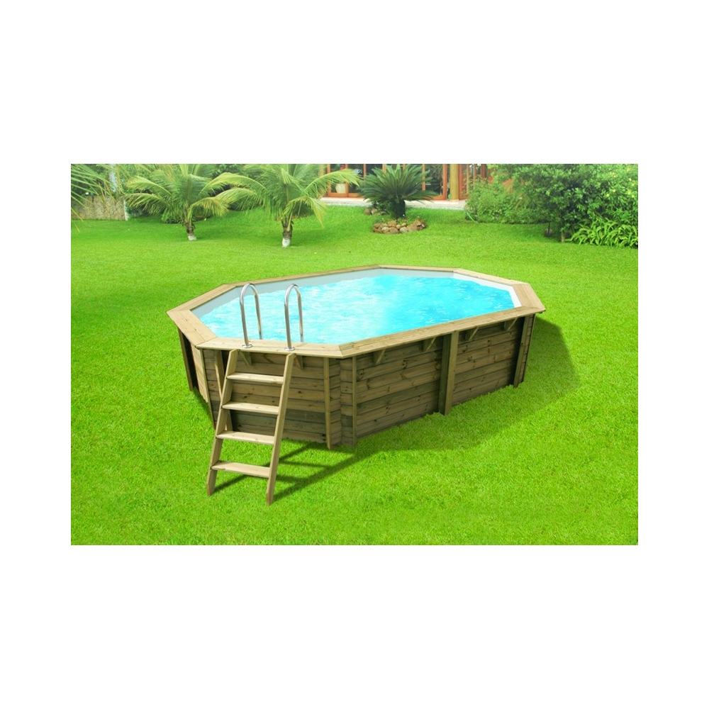 Piscine en kit bois de forme allong e ubbink for Piscine en kit bois