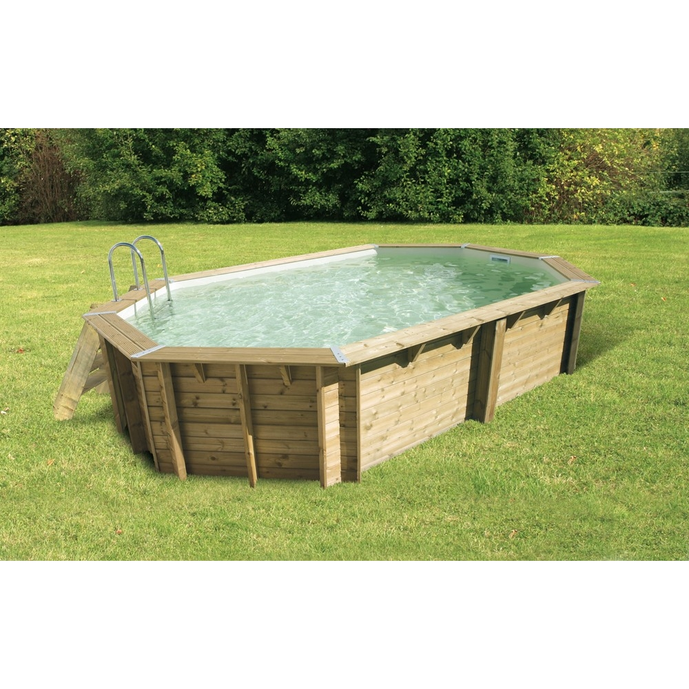 Piscine en kit bois de forme allong e ubbink for Piscine bois en kit