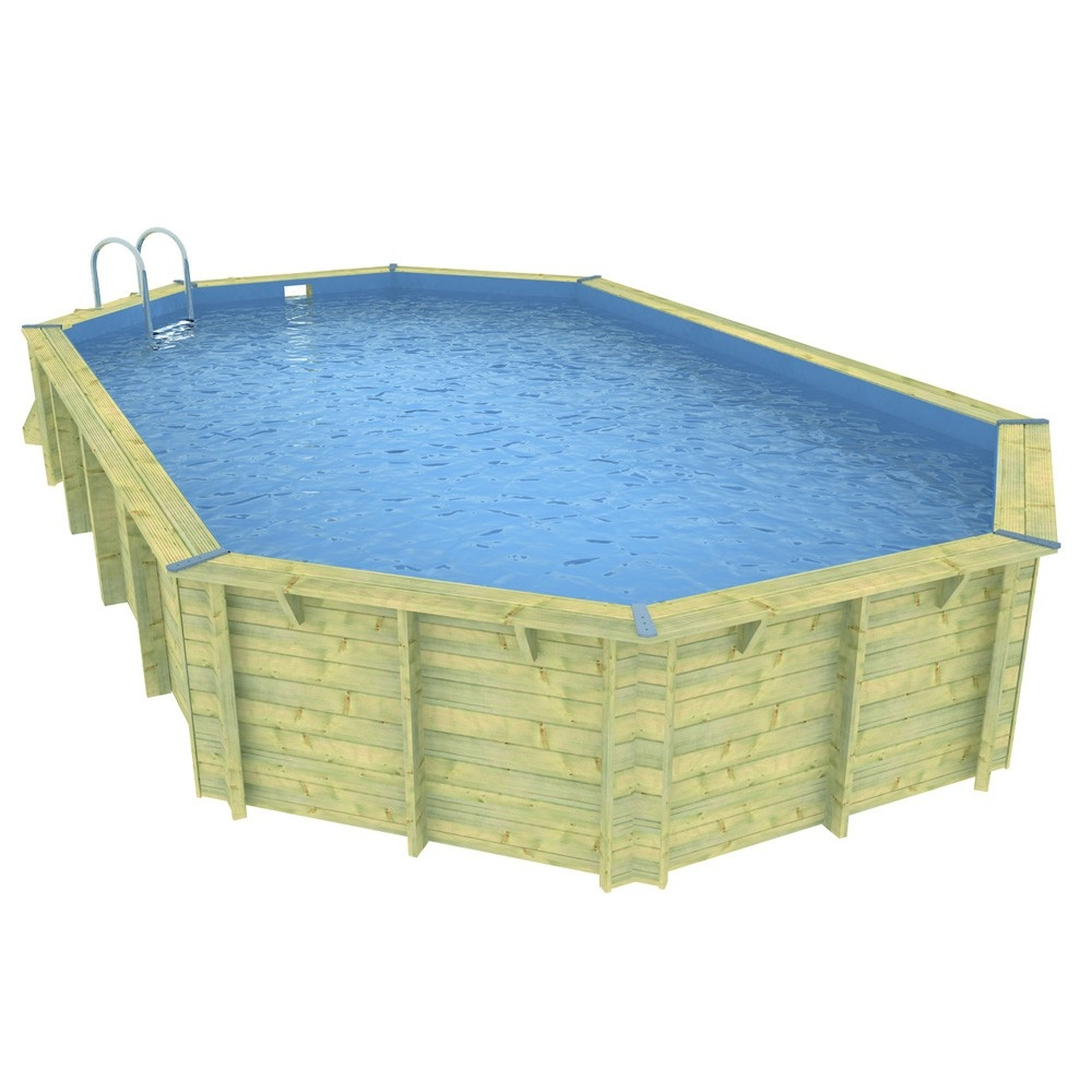 Piscine en kit bois de forme allong e ubbink for Piscine encastrable bois