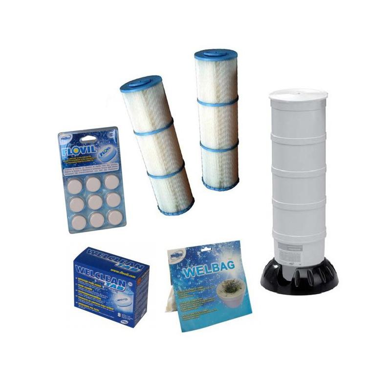 PACK Weltico C7 ENTRETIEN : 2 cartouches filtrantes + accessoires et produits d'entretien