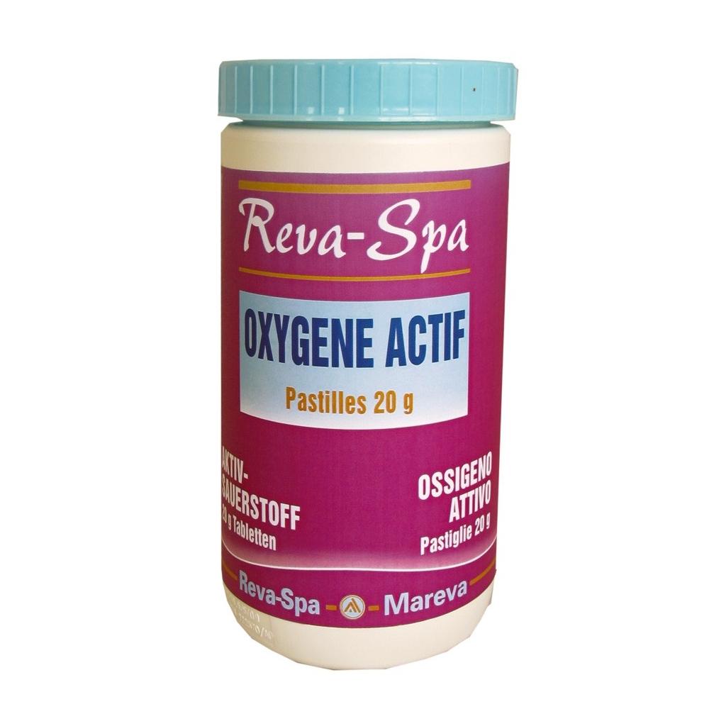 Oxyg ne actif en pastilles pour spa reva spa mareva for Oxygene actif pour piscine