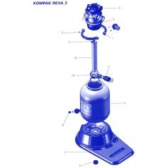 Collier serrage + Vis 4 m3 Filtre Kompak Reva 2