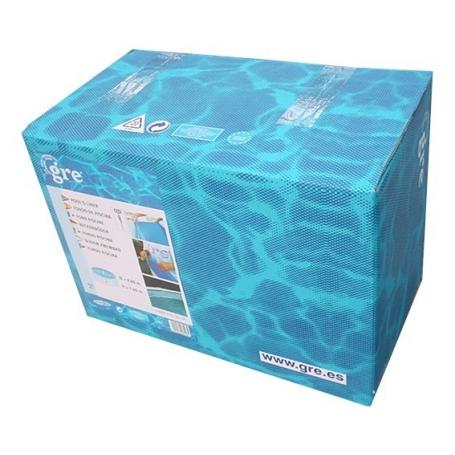 Liner bleu piscine ronde d h for Liner piscine 3 60 1 20