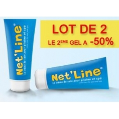 Lot de 2 gels NET LINE nettoyant ligne d'eau piscine 2 en 1