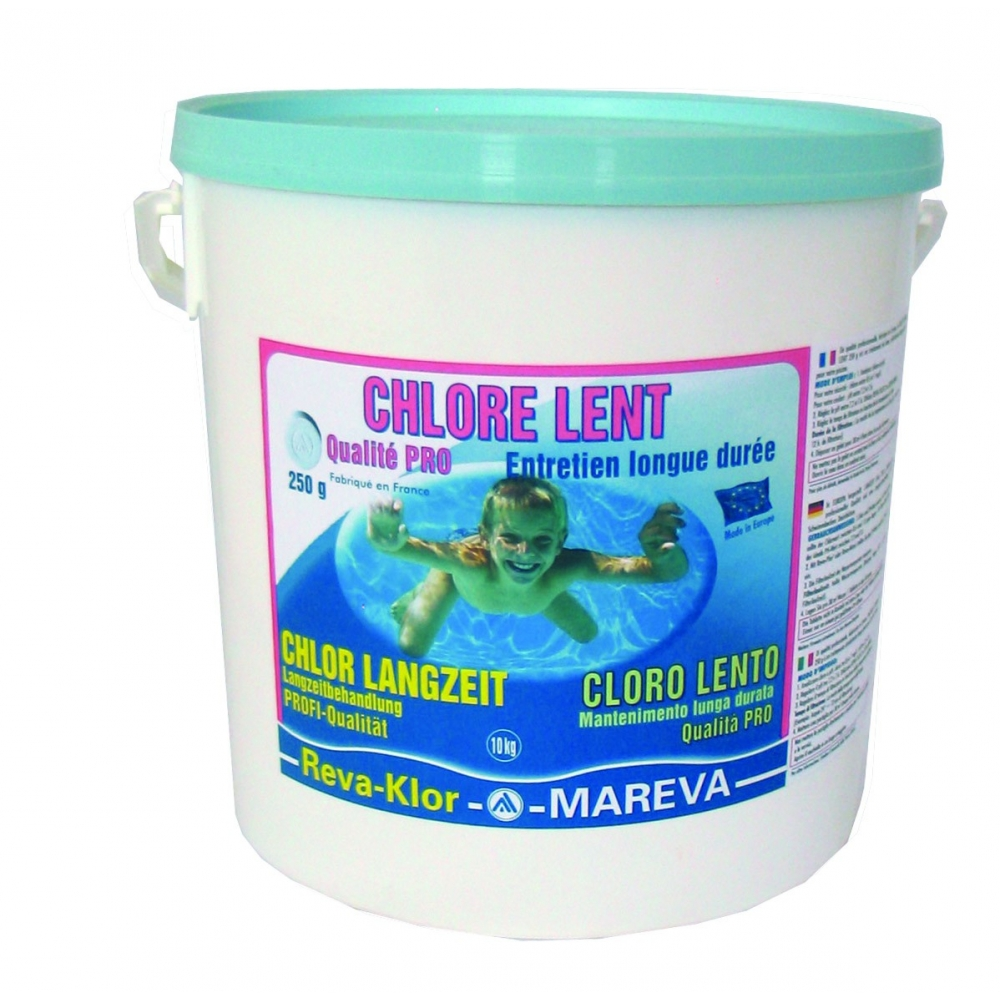 Galets de chlore lent reva klor 250 g mareva for Chlore piscine