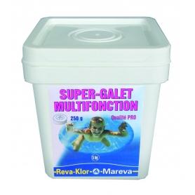 SUPER GALETS de chlore lent multifonction 250g - Mareva