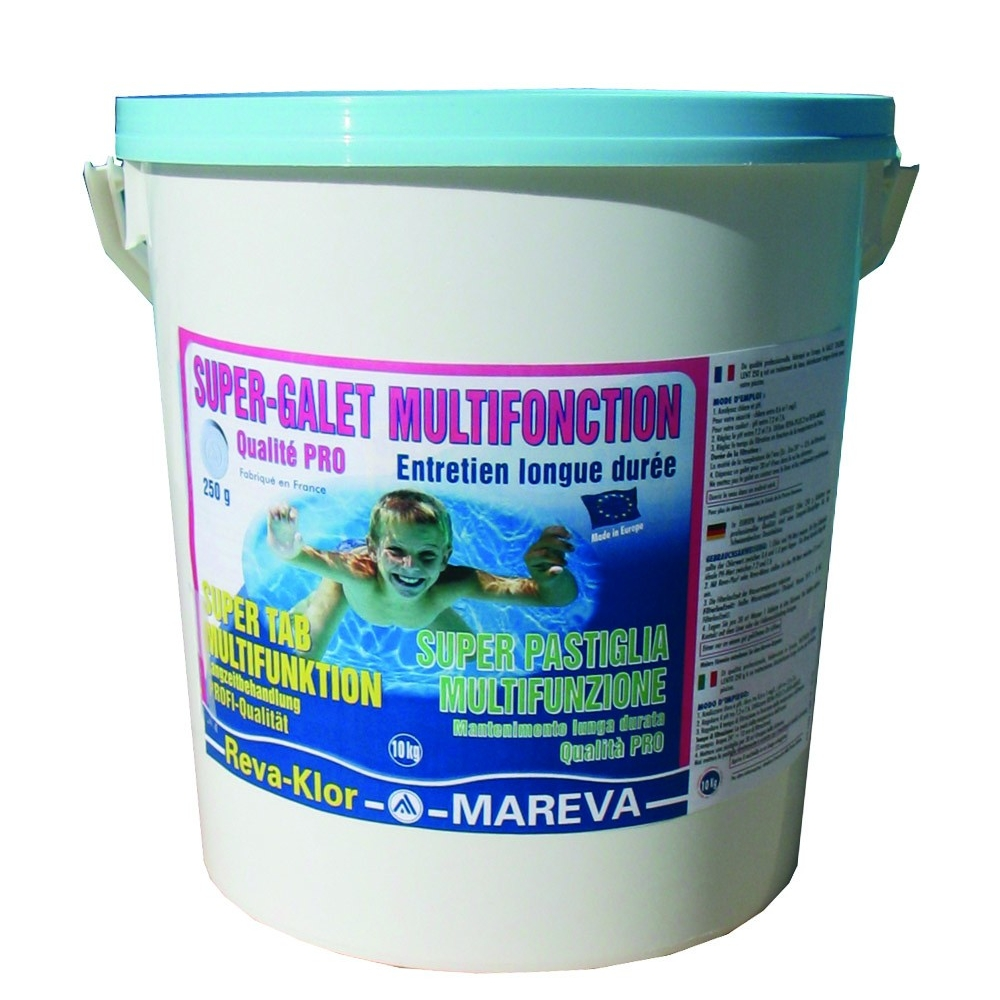 Super galets chlore multifonction 250 g emball mareva for Produit piscine mareva
