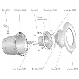 Support Optique pour projecteur 300W Weltico (avant 2007)