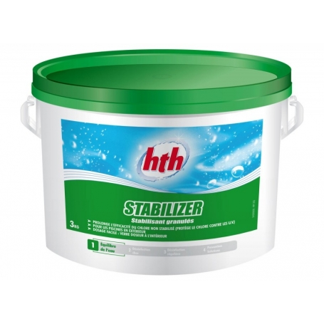 Stabilisateur de chlore stabilizer hth for Chlore hth piscine
