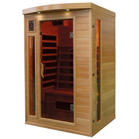 Sauna infrarouge bois hemlock astral 2 places - Sauna infrarouge prix ...