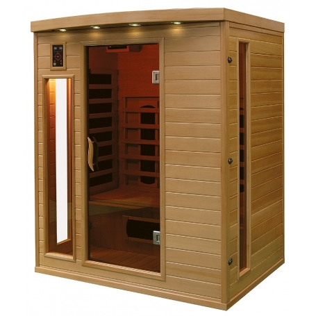 Sauna infrarouge bois hemlock astral 3 places - Sauna infrarouge 3 places ...