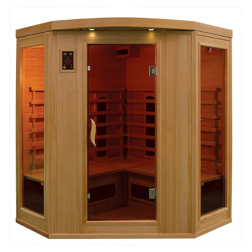 sauna infrarouge bois hemlock astral 3 4 places. Black Bedroom Furniture Sets. Home Design Ideas