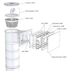 Pochette de vis contre-bride pour ecumeur et skimfiltre A300