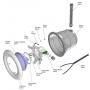 Joint d'optique pour projecteur Weltico 300 W (avant 2007)