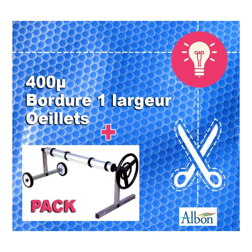 Pack 9 x 4 b che bulles qualit pro enrouleur for Enrouleur bache a bulles amovible