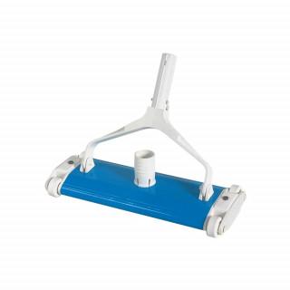 Tête de balai en métal Label Bleu pour piscine béton