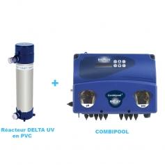DELTA BIO-UV PVC avec OXYGENE ACTIF - Package Traitement UV Piscine