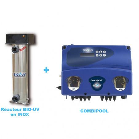 BIO-UV Inox avec OXYGENE ACTIF - Package Traitement UV Piscine
