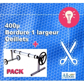 Pack 11 x 5 : Bâche à bulles Qualité Pro + Enrouleur