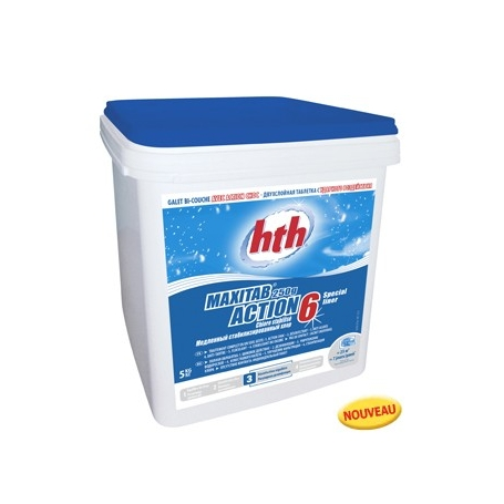 Chlore multifonction action 6 maxitab 250g hth special liner for Chlore hth piscine