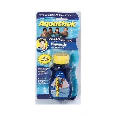Languettes d'analyse biguanide et pH Aquacheck