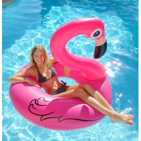 flamant rose piscine