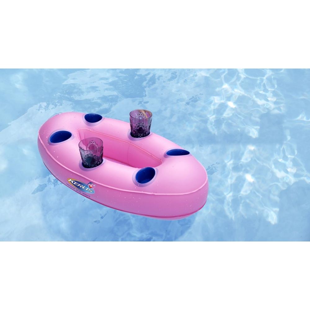 Bar flottant gonflable rose ou bleu pour un ap ro for Bar gonflable pour piscine