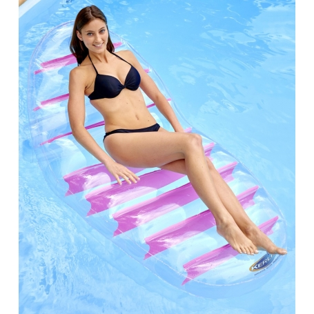 Matelas gonflable LOUNGER Transparent