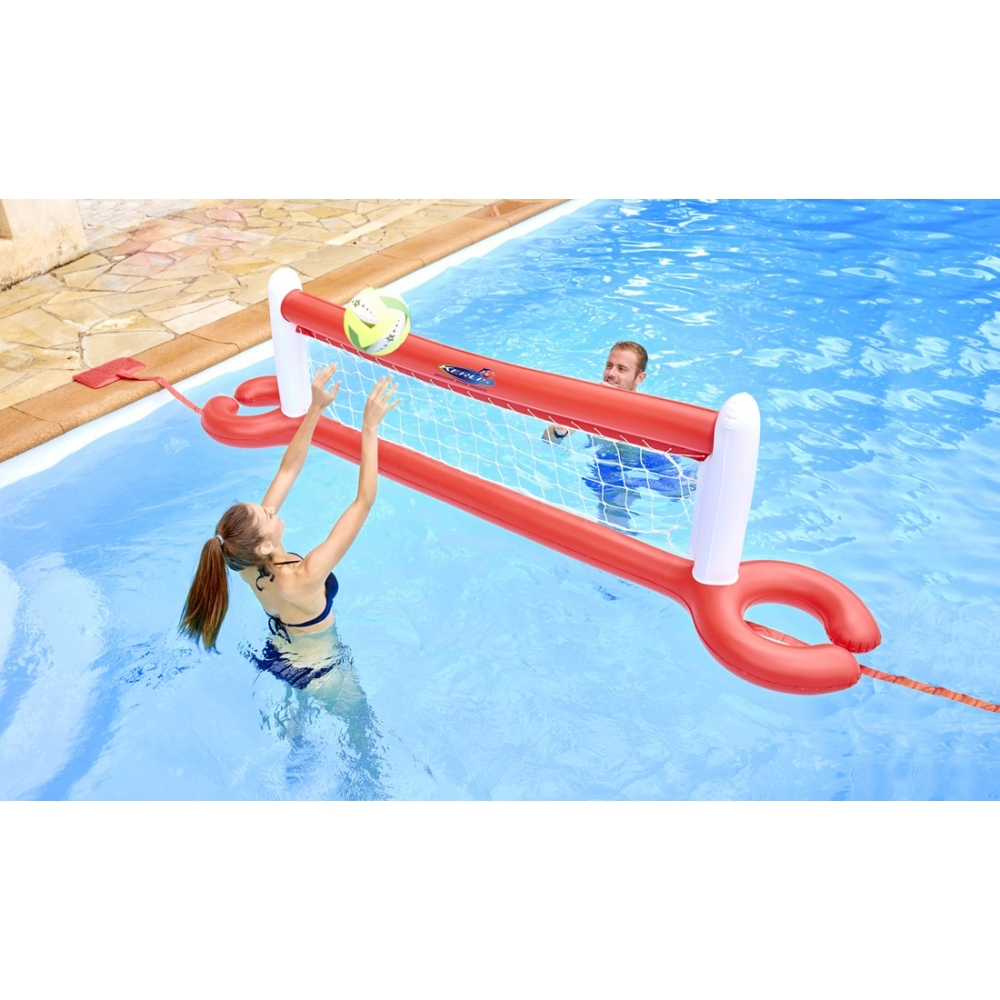 Filet de volley xl flottant pour piscine for Balayeuse pour piscine gonflable