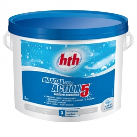 Chlore multifonction ACTION 5 Maxitab 200g hth