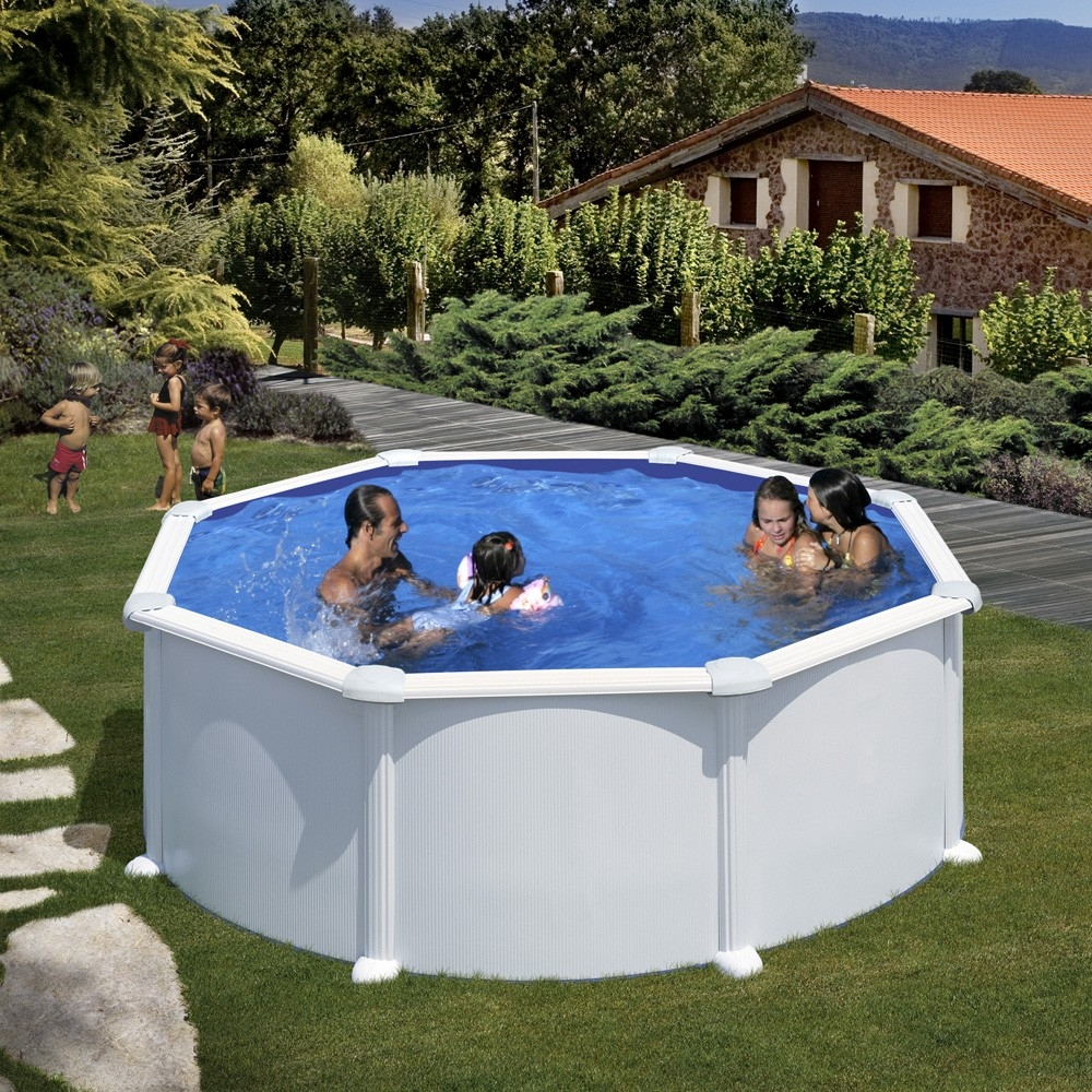 Piscine hors sol ronde gre mod le atlantis for Securiser piscine hors sol