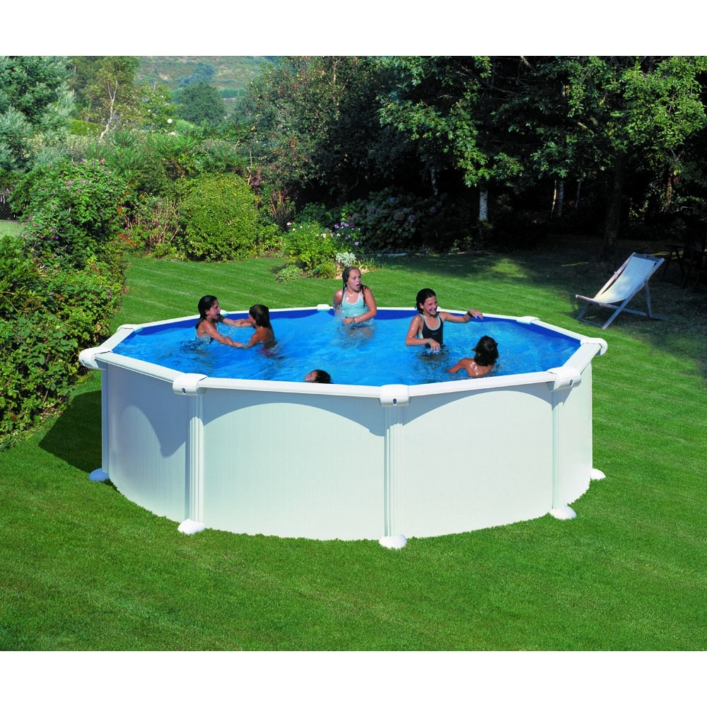 Piscine hors sol ronde gre mod le atlantis for Piscine hors sol imposable