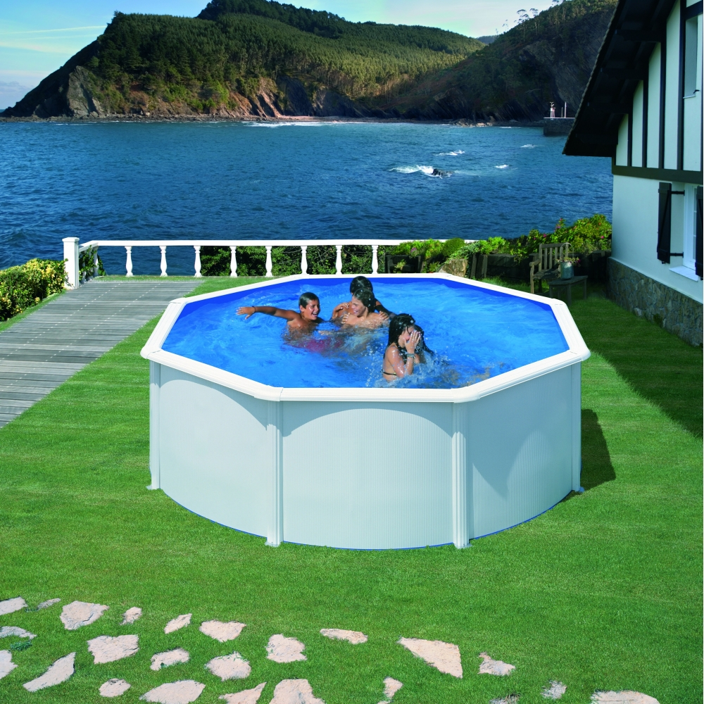 Piscine hors sol ronde gr mod le fidji for Piscine hors sol imposable