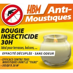 Bougie Insecticide Anti Moustiques 30h
