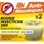 2 Bougies Insecticides Anti Moustiques 60h