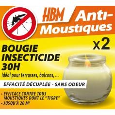 Pack de 2 Bougies Insecticides Anti Moustiques 60h