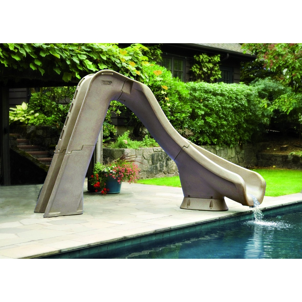Toboggan typhoon pour piscine for Toboggan gonflable piscine