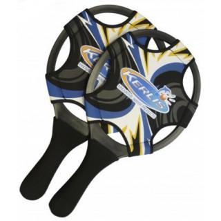 Jeu de raquettes néoprène KERLIS (orange, bleu, noir)