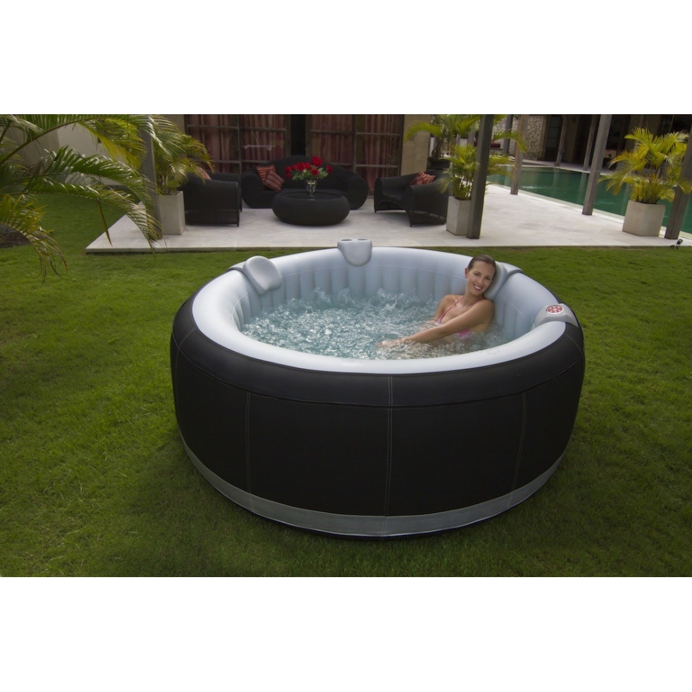 Spa gonflable rond luxe 4 places livraison offerte for Piscine 4 places