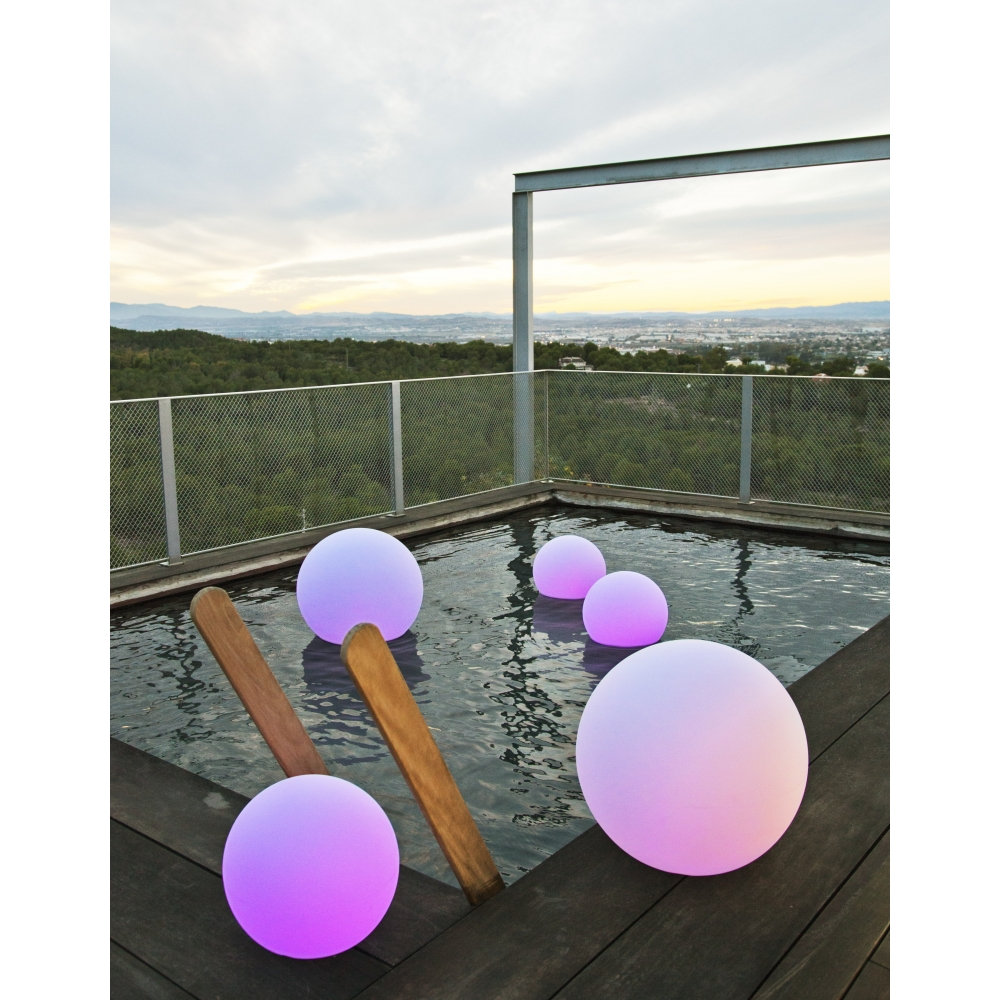 Lampe boule lumineuse leds buly for Boules lumineuses piscine