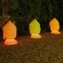 Tête de Bouddha lumineuse couleur GOA 70 cm