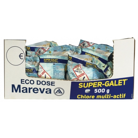 Eco-Dose Super Galet Chlore MultiFonction 500 g