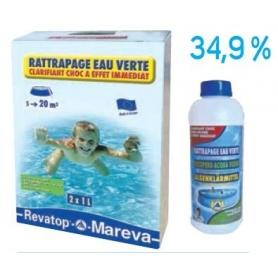 Traitement Choc RATTRAPAGE EAU VERTE - Mareva